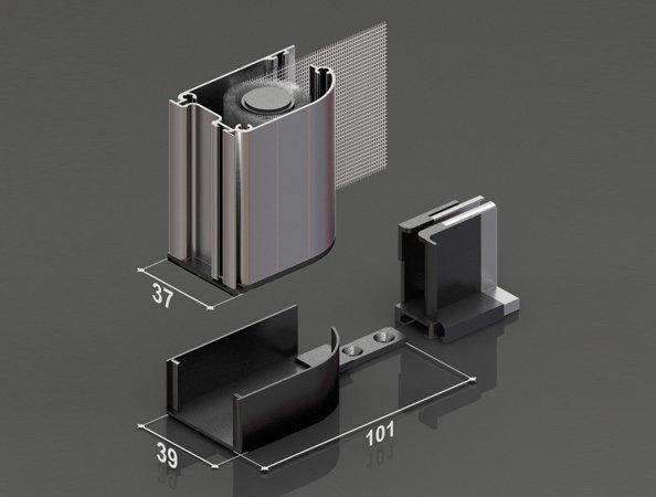 Zanzariera porta a molla avvolgibile economica 40 mm due - Zanzariera porta ...