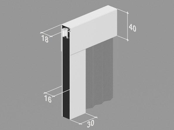 Zanzariera 18mm ingombro ridotto plisse - Zanzariera porta finestra prezzo ...