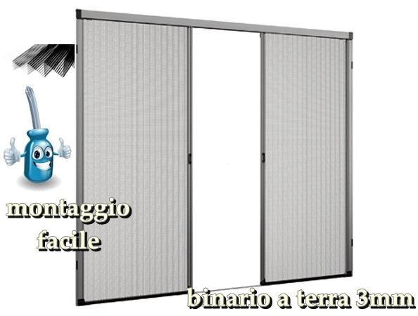 Zanzariera plisse porta con guida bassa due ante 2 - Zanzariera porta ...
