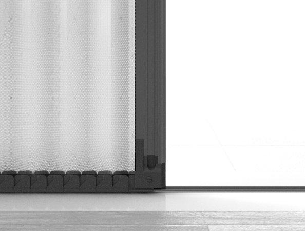 Zanzariera plisse porta con guida bassa - Zanzariera porta ...